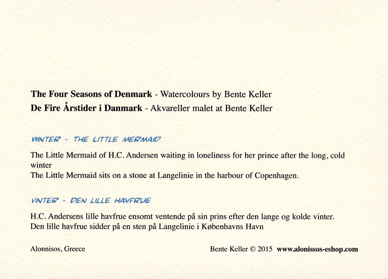 Sets of 4-seasons of Danish Sceneries