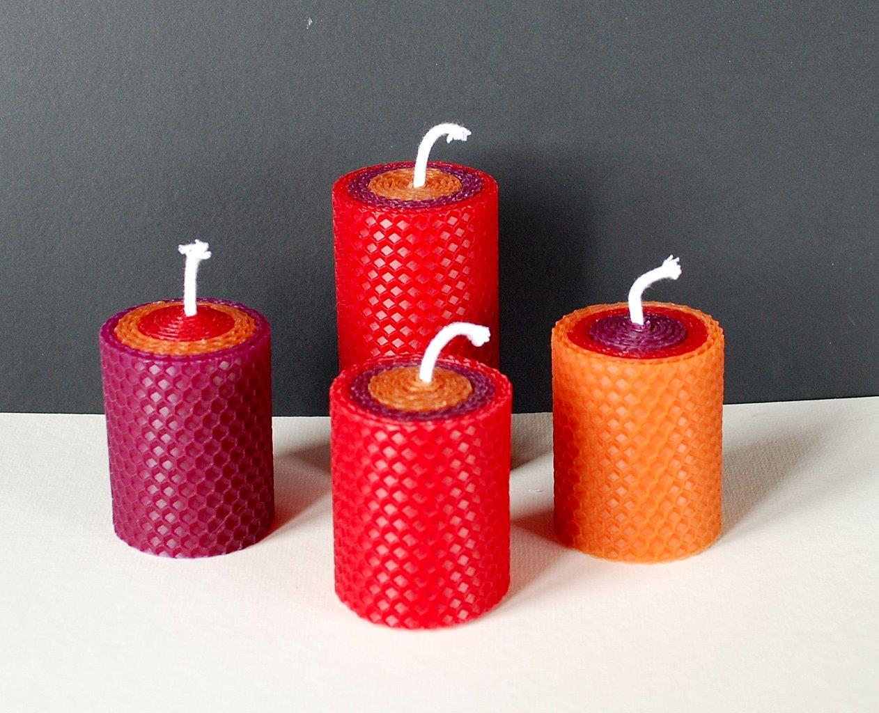 Set of 4 Christmas candles