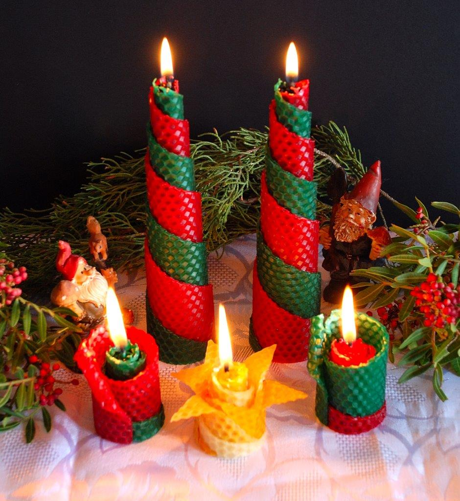 Set of 5 Christmas Candles